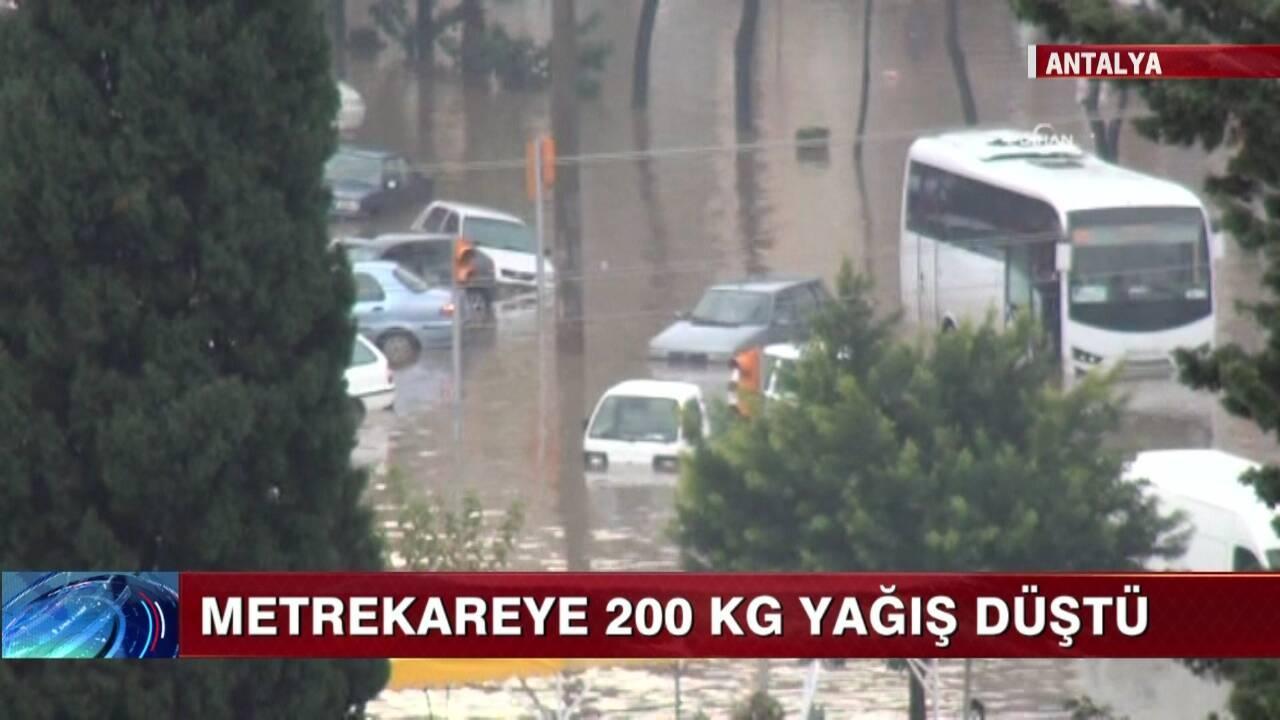 Antalya'yı sağanak vurdu!