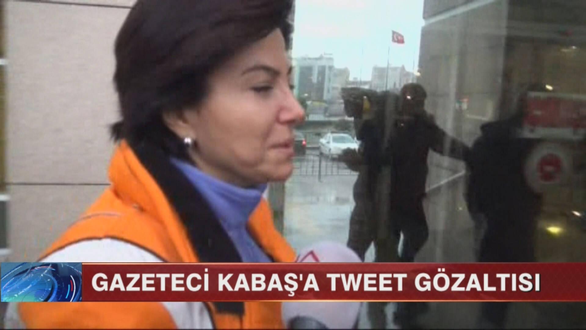 Gazeteci Kabaş'a Tweet gözaltısı!..