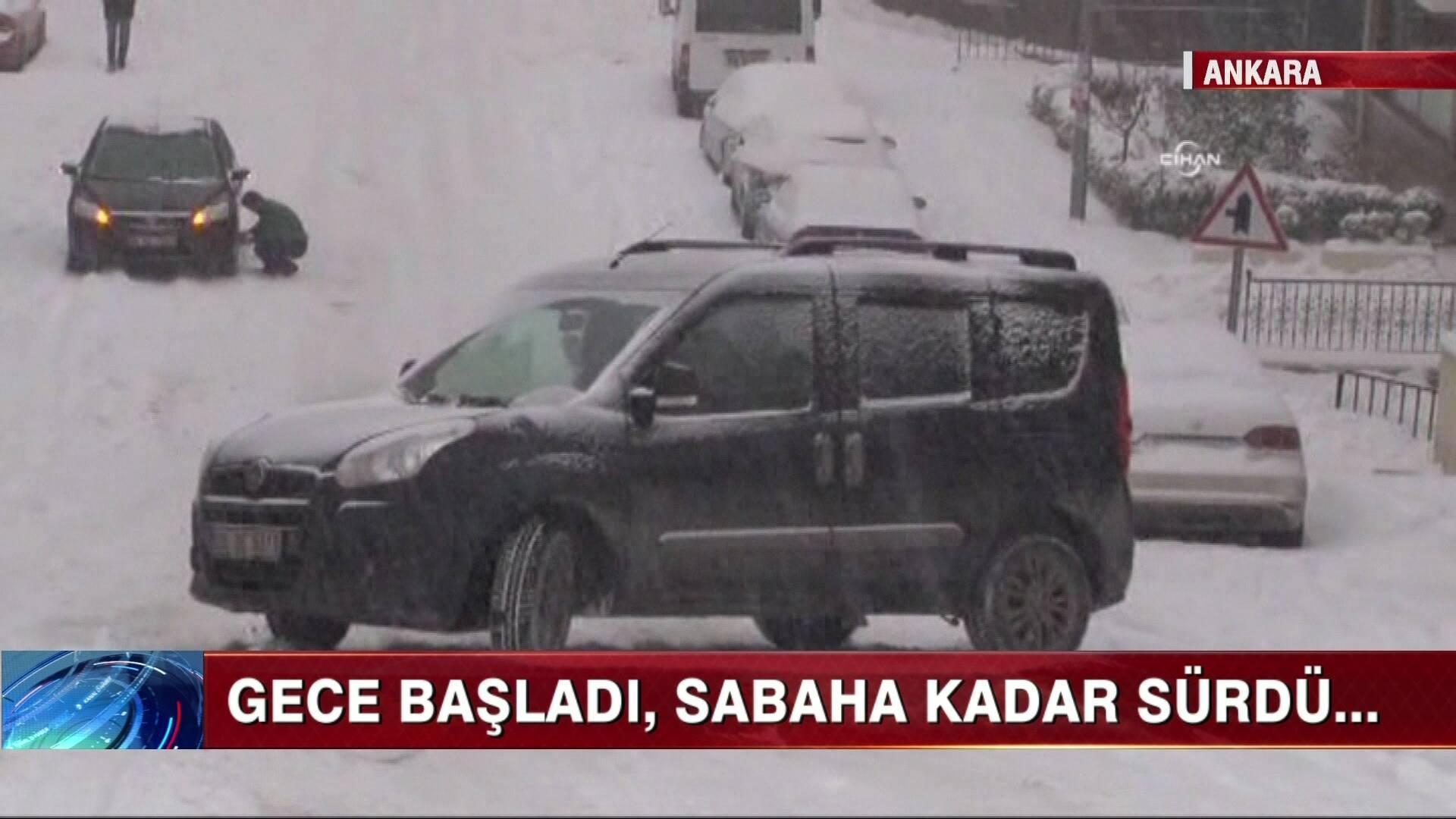 Kar, başkenti vurdu!