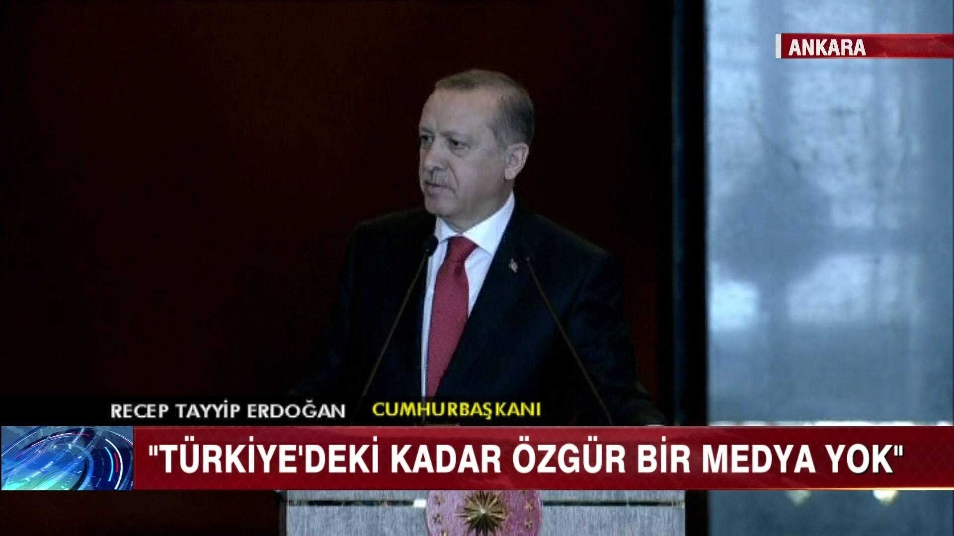 Erdoğan'dan basın özgürlüğü açıklaması!