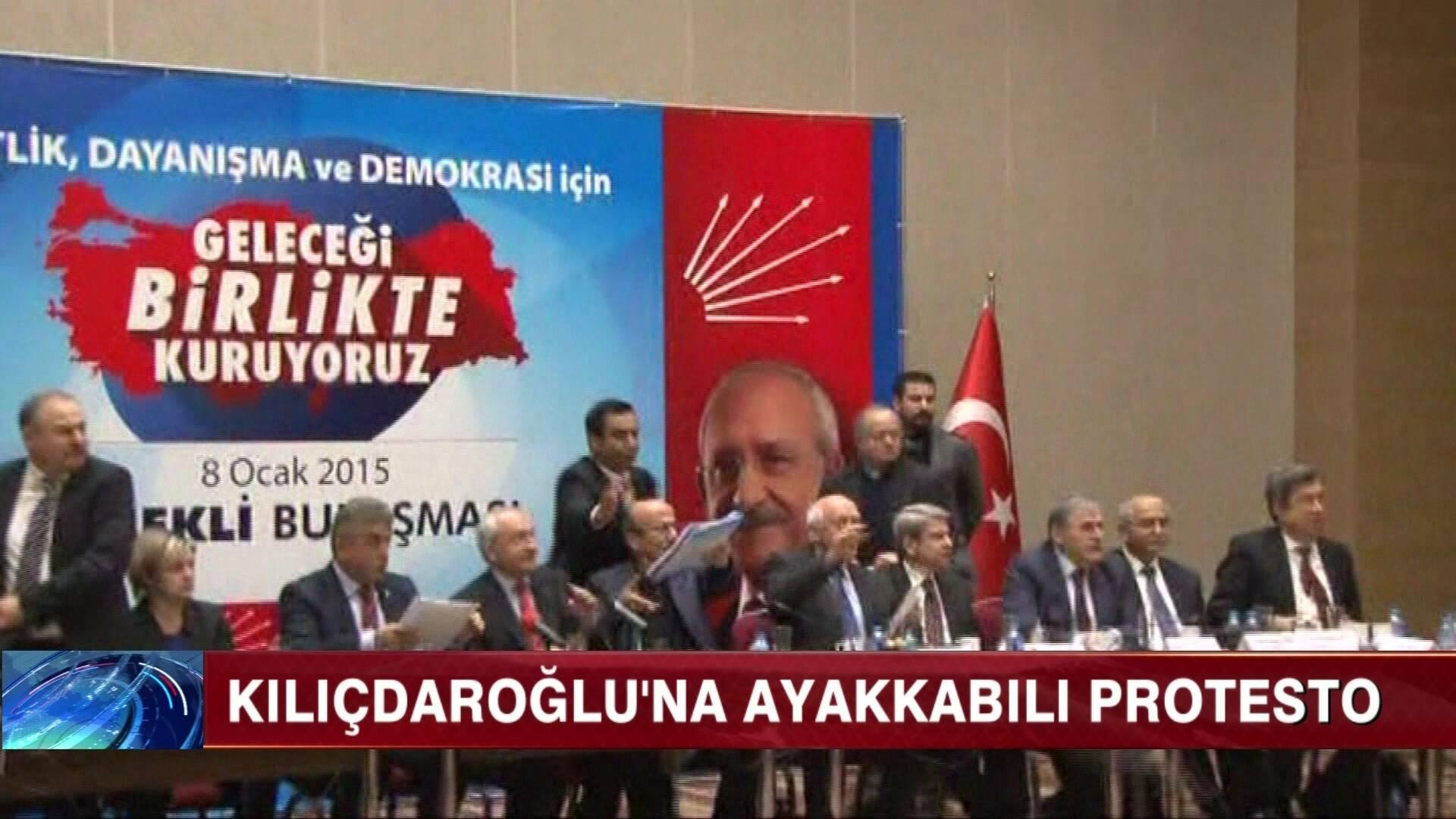 Kılıçdaroğlu'na ayakkabılı saldırı!
