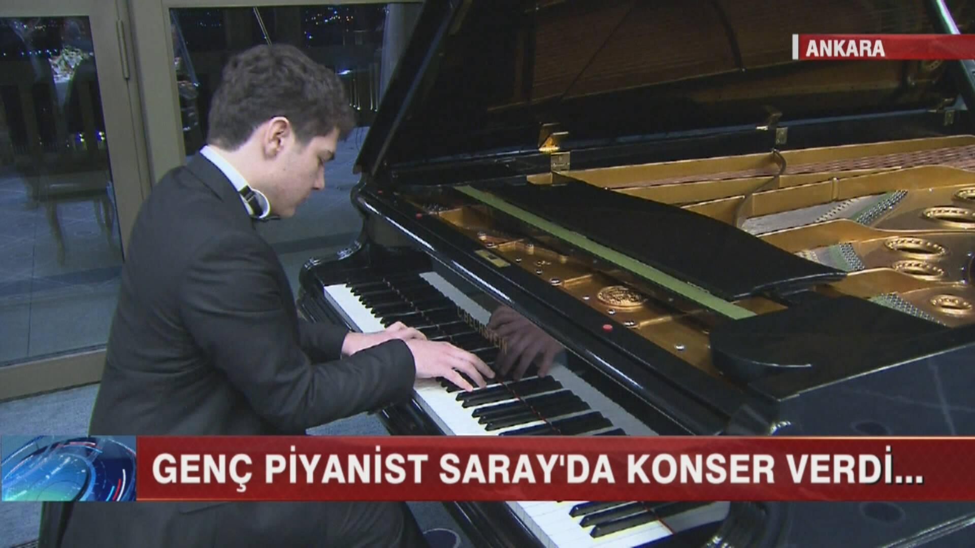 Genç piyanist sarayda konser verdi!