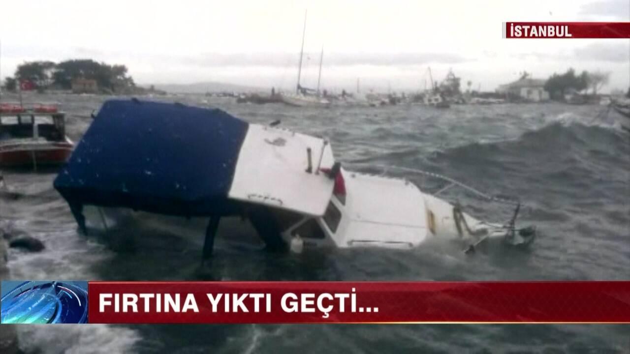 İstanbul'u lodos vurdu!