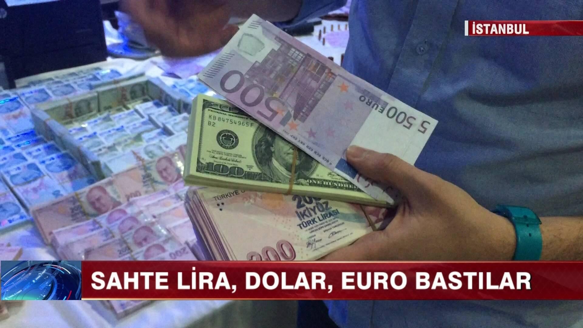 Sahte lira, dolar, euro bastılar!