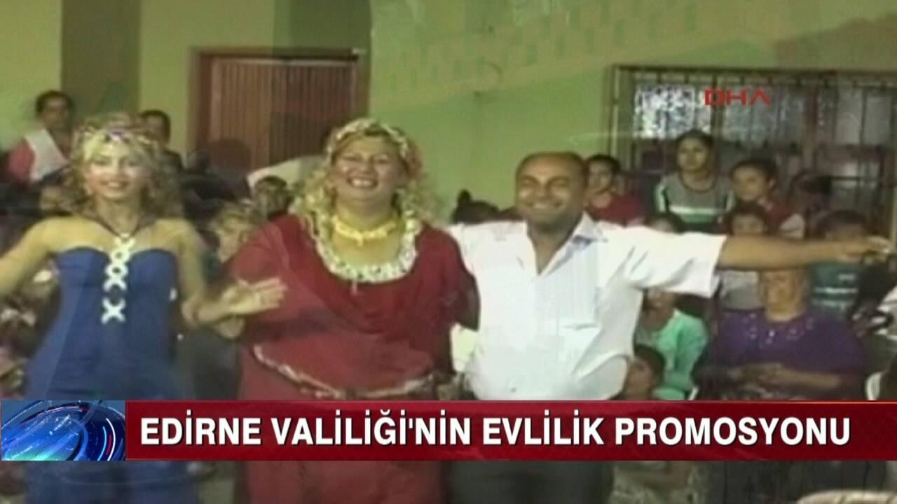 Edirne Valiliği'nden Evlilik Promosyonu