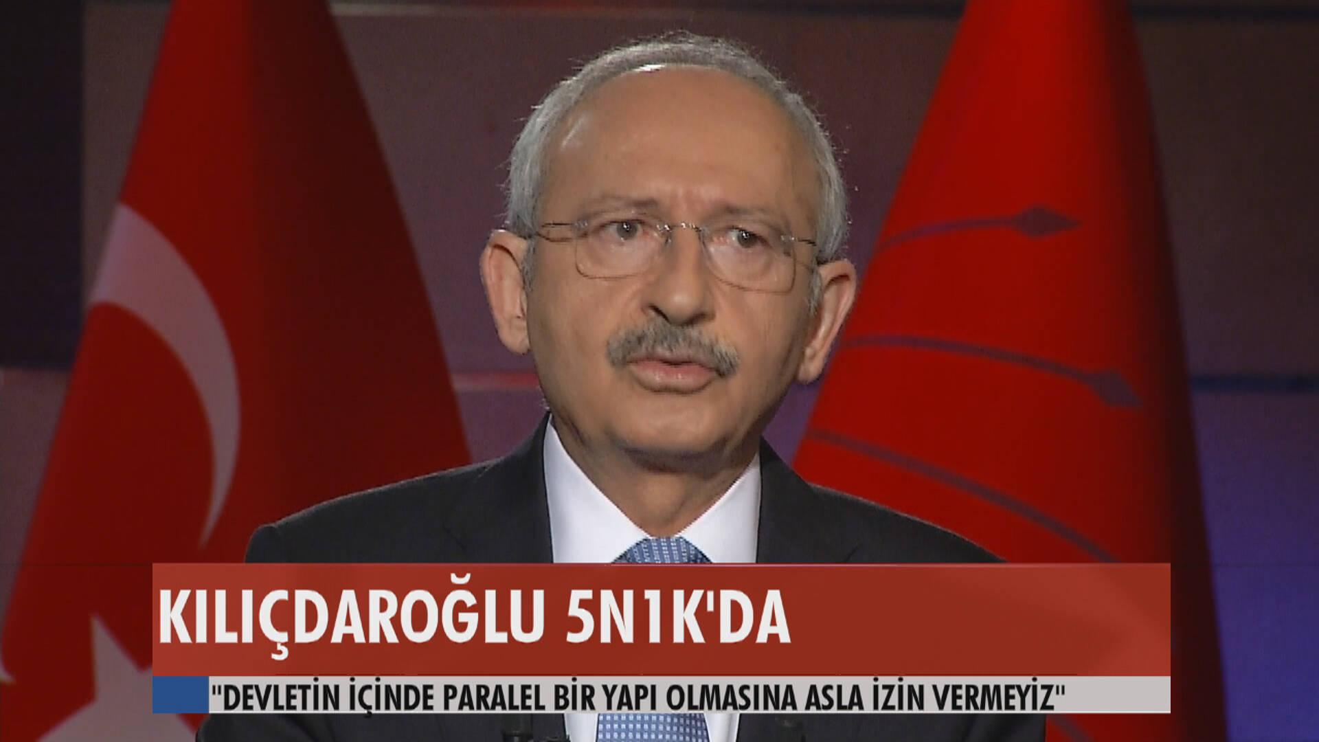 """Kemal Kılıçdaroğlu """"Paralel Yapılanma"""" ile ilgili neler düşünüyor?"""