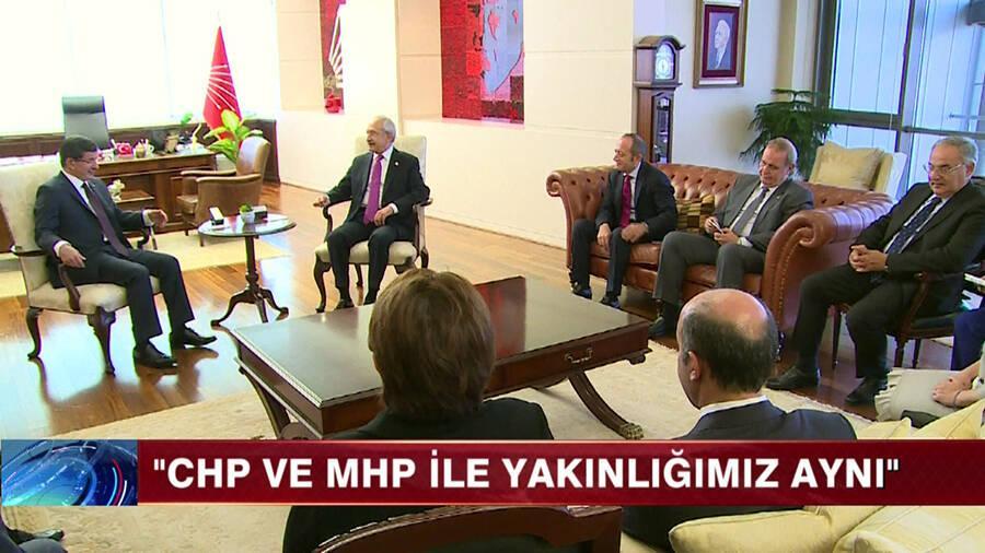 ''CHP ve MHP ile yakınlığımız aynı!''