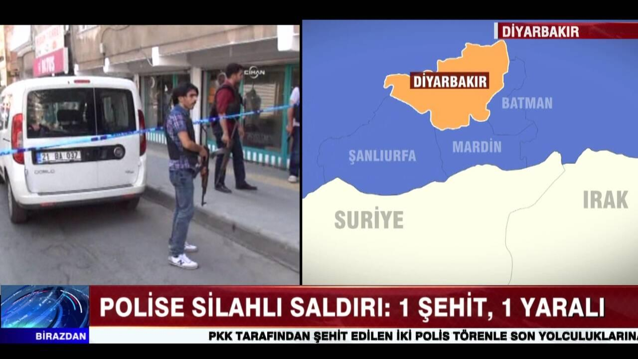 Diyarbakır'da 2 polise ateş açıldı!