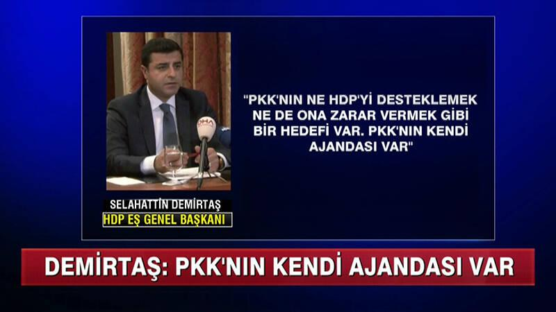 Demirtaş: ''PKK'nın yasal kolu değiliz!''