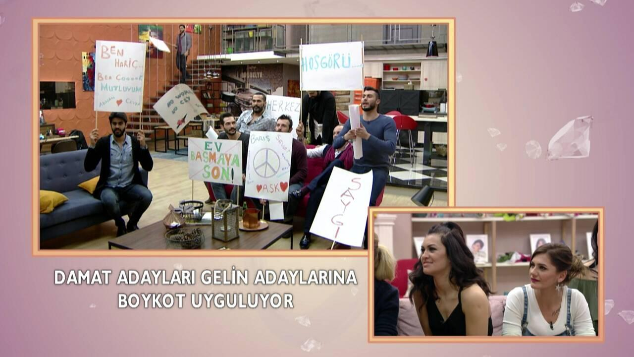 Damat adaylarından protesto!