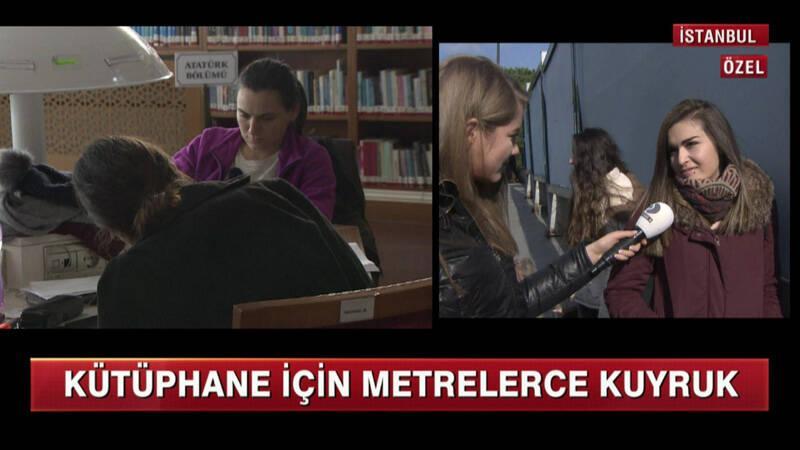 O kütüphane için metrelerce kuyruk oluyor!