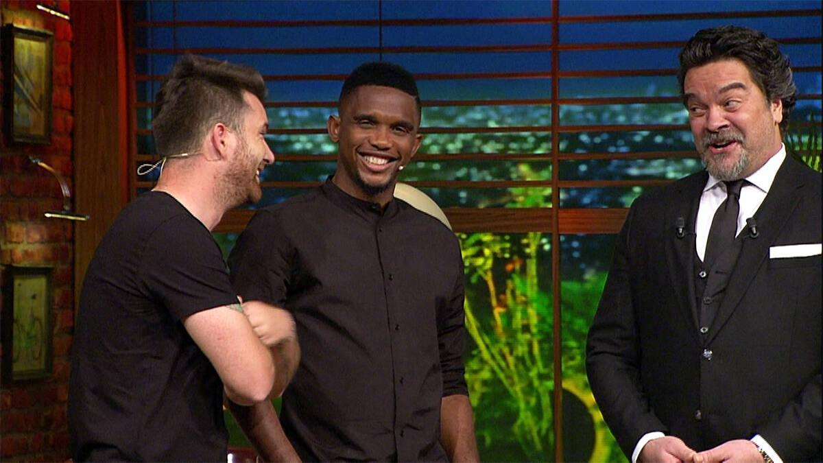 Yıldız futbolcu Samuel Eto'o Beyaz Show'da!