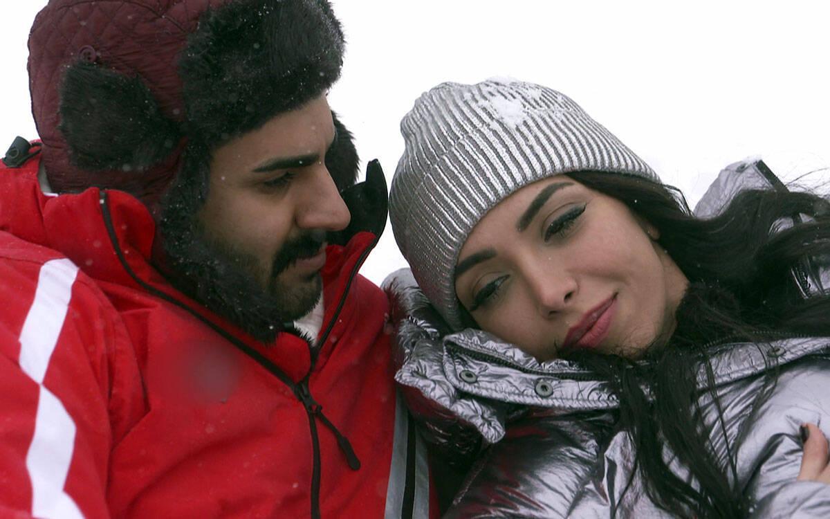 Adnan ve Didem'in karlar üstünde aşkı!