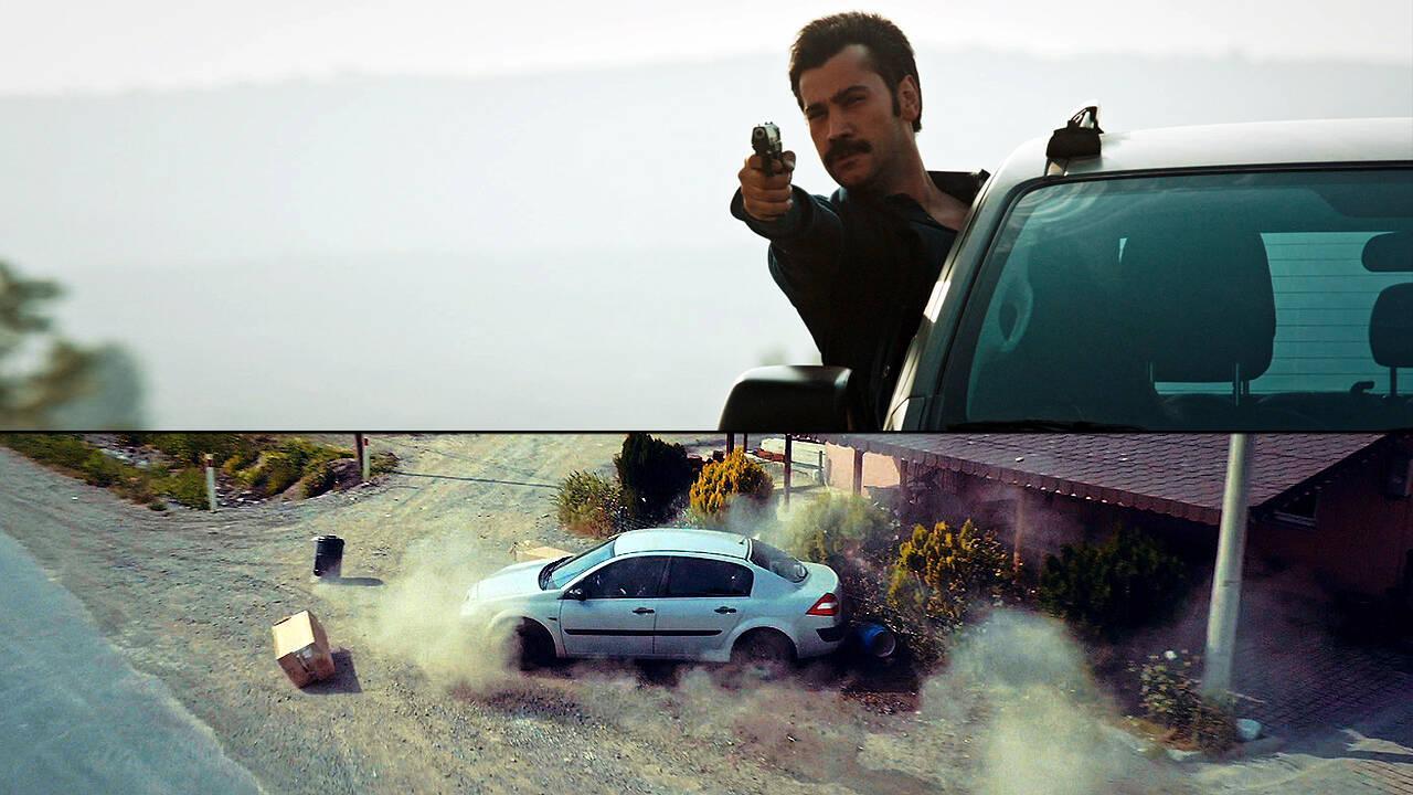 Bomba yüklü araç böyle durduruldu!