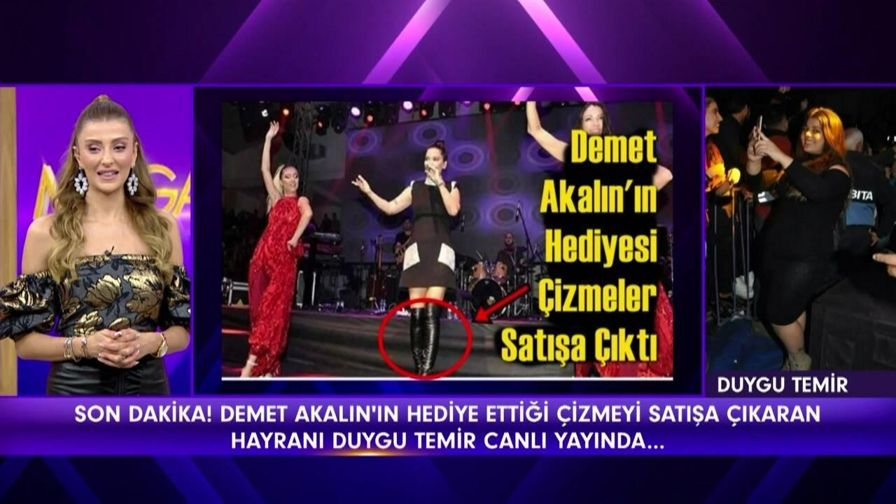 Demet Akalın'ın hayranından çizme açıklaması!