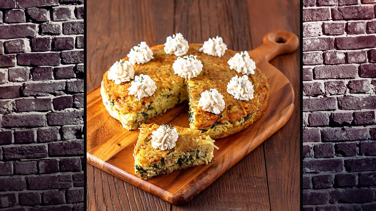 Arda'nın Mutfağı - Ispanaklı Spagetti Kek Tarifi