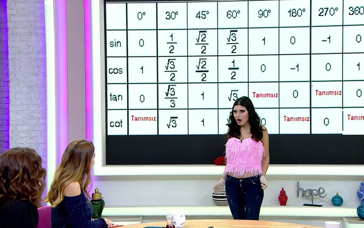 Bahar Candan'dan canlı yayında trigonometri dersi!