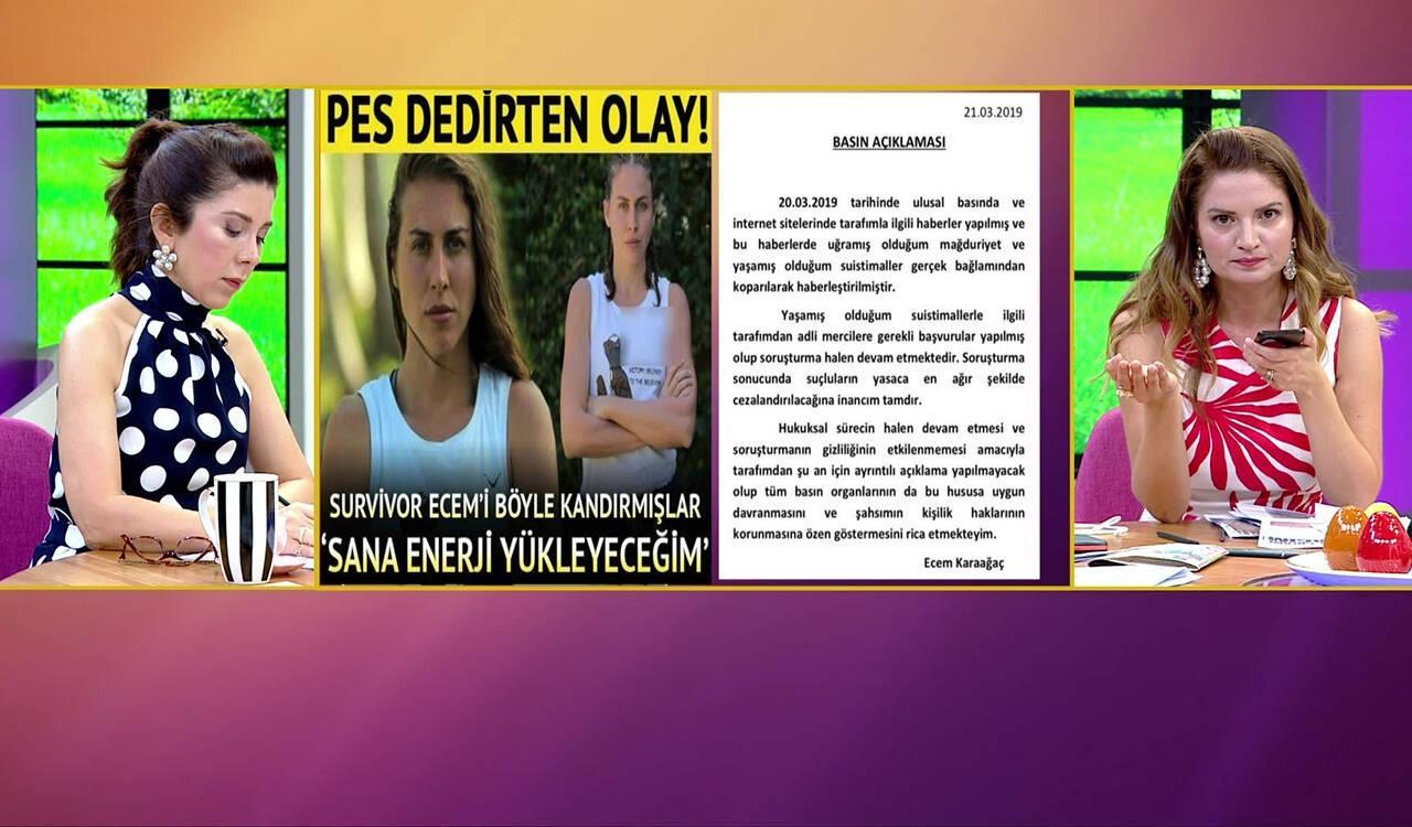 Ecem Karaağaç canlı yayında gözyaşlarına boğuldu!