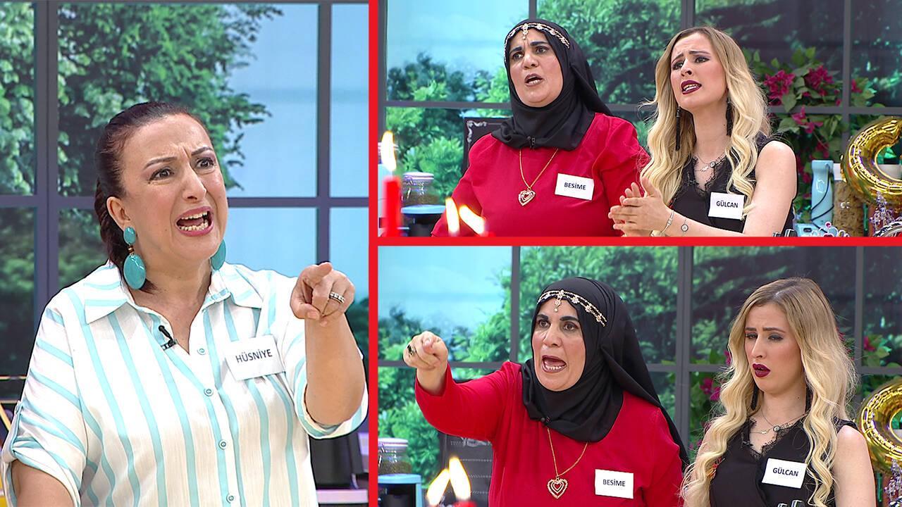 Hüsniye'nin yemek yorumları Besime ve Gülcan'ı öfkelendirdi!