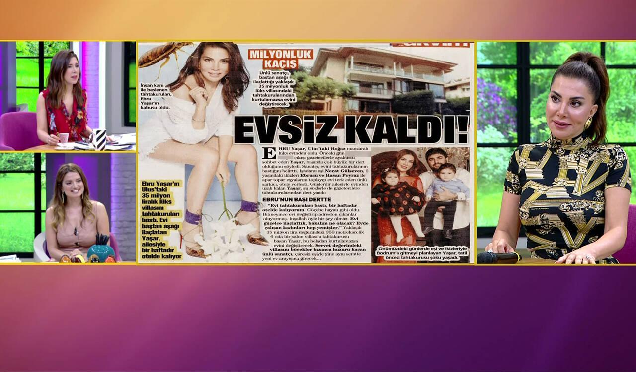 Ebru Yaşar'ın evini tahtakuruları bastı!