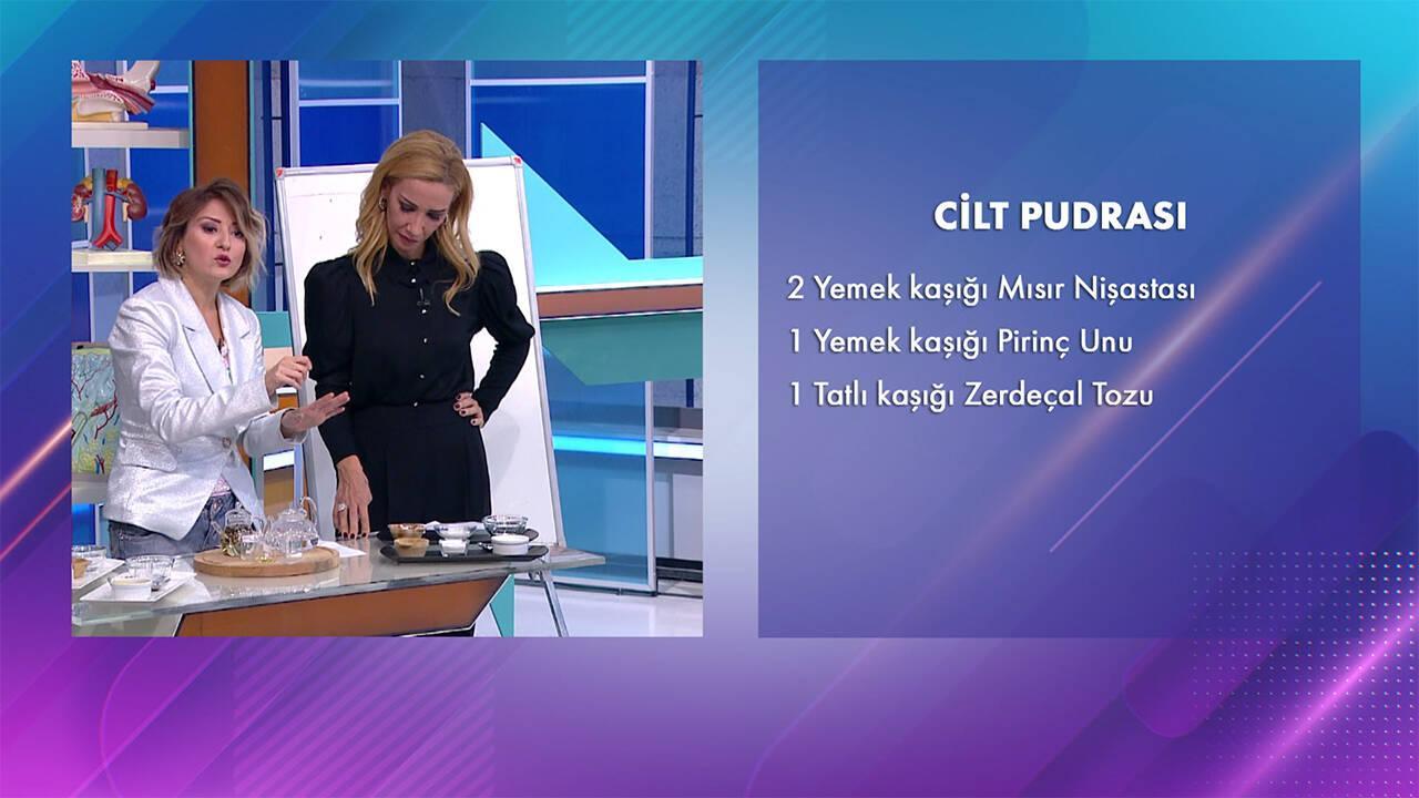 Seda Şakacı'dan doğal cilt pudrası tarifi!