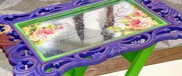 Ayna Efektli Dekoratif Sehpa
