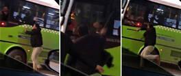 Otobüs şoförüne coplu saldırı | Video