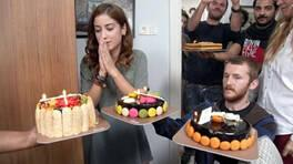 Hazal Kaya'ya, sette doğum günü sürprizi
