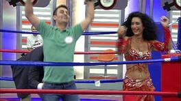 Dansöz kaçtı, yarışmacılar kovaladı