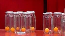 Eşiniz 60 saniyede kaç pinpon topu konserveler?