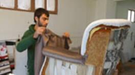 Münire Hanım'ın koltukları nasıl yenilendi