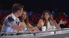 Jüri ve yarışmacı arasında gerginlik