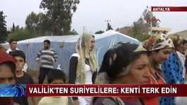 Suriyelilere kenti terkedin uyarısı