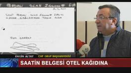 Zafer Çağlayan'ın 700 Bin Liralık kol saatinin belgesi otel kağıdında!