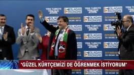 """Davutoğlu'ndan """"Kürtçe"""" selamlama!"""