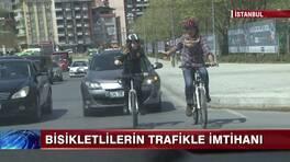 İstanbul'da bisiklete binmek!