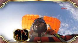 Gökyüzünde paraşüt değiştiren Cengiz Koçak Beyaz Show'daydı!