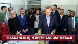 ''Başkanlık için referandum'' mesajı!