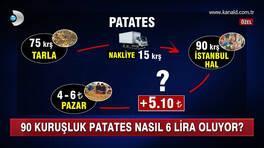 90 kuruşluk patates, nasıl 6 lira oluyor?