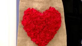 Sevgililer Günü Çantası ve Şerit Penye ile Kalp Yapımı