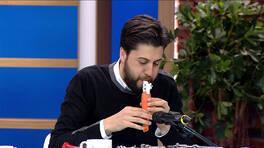 Serkan Çağrı havuçtan flüt yaptı!