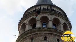 Galata kulesinden atladı!