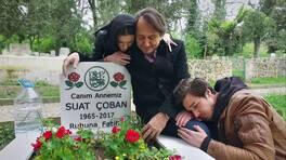 Anne mezarında ağlatan anlar!