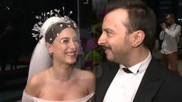 Hazal Kaya ve Ali Atay'ın düğününden çok özel görüntüler!