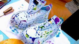 Spor Ayakkabı Üzerine Ebru Sanatı