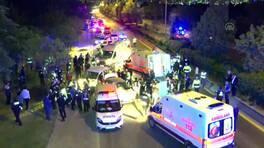 Polis kontrol noktasındaki kazada 7 kişi yaralandı