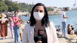 Çekirdek çitlemek yasaklanan Üsküdar sahilinde son durum   Video