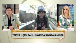 CNN Türk muhabiri Fulya Öztürk, Azerbaycan'dan canlı bağlantı yaparken bombalar yağdı!