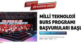 Türkiye Teknoloji Takımı Vakfı Milli Teknoloji Burs Programı Başvuruları Başladı!