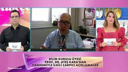 Prof. Dr. Ateş Kara'dan salgınla ilgili çarpıcı açıklamalar!